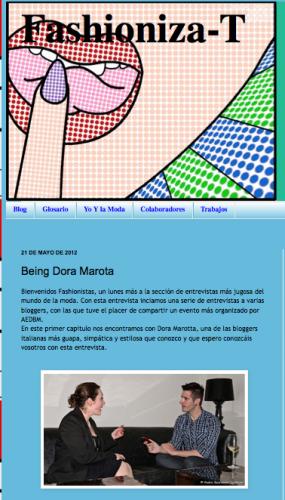 Interviewed by Fashioniza-T Blogger