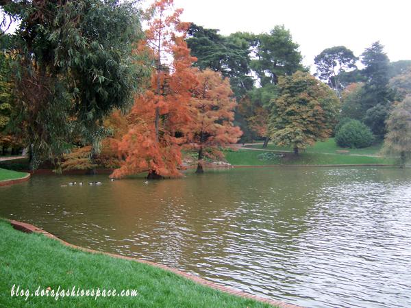 parque del retiro in autunno