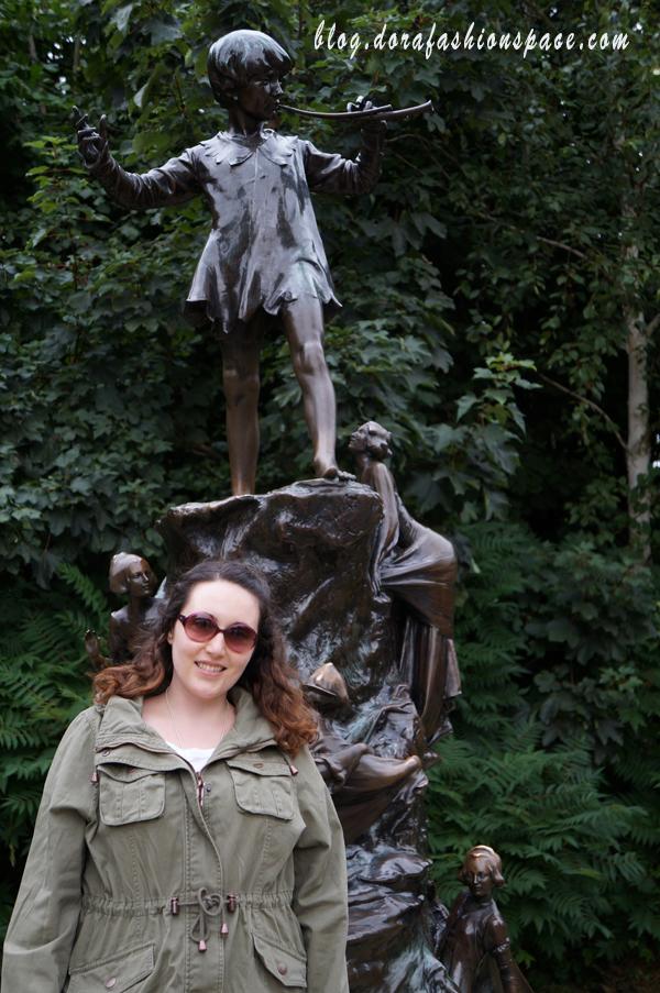 dove si trova la statua di peter pan