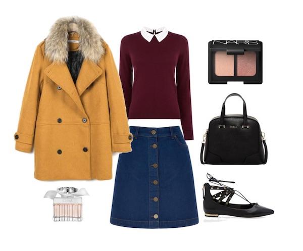 denim-skirt-preppy-look