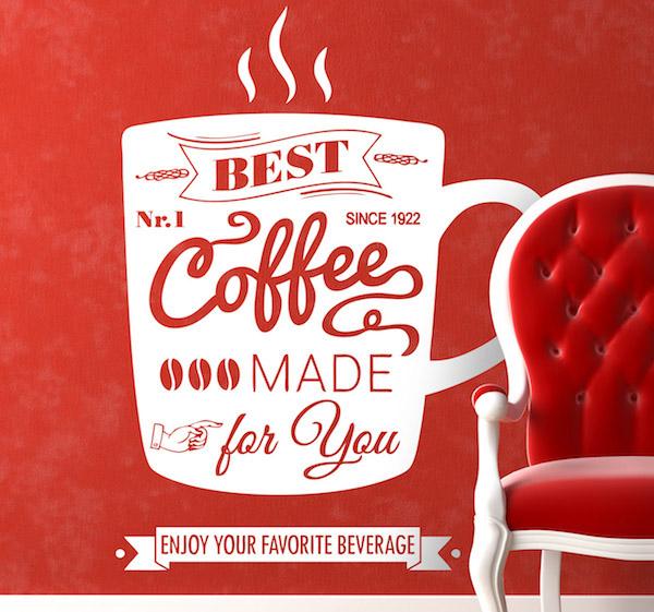 coffee wall sticker