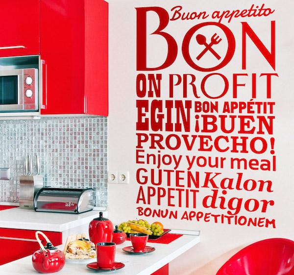 enjoy your meal kitchen sticker