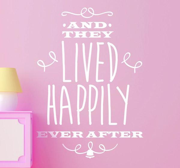 happily ever after kids sticker