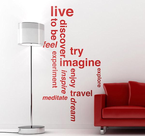 motivational wall sticker