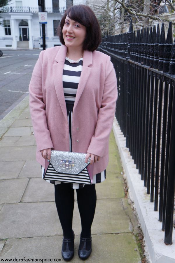 pink black white outfit