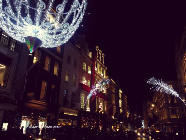 new bond street christmas lights 2016
