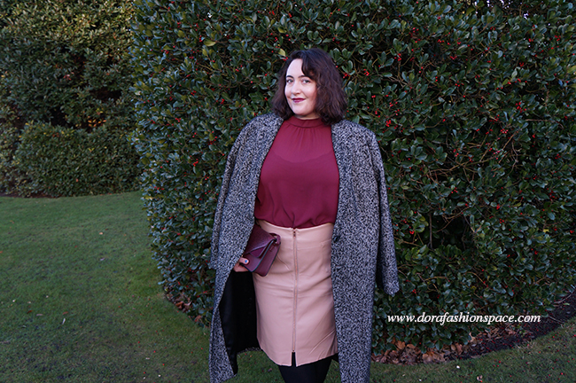 elvi oversize tweed coat