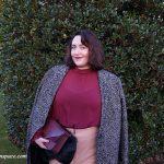 How to wear: Oversized tweed coat