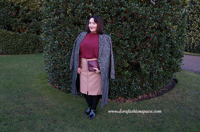 plus size tweed coat