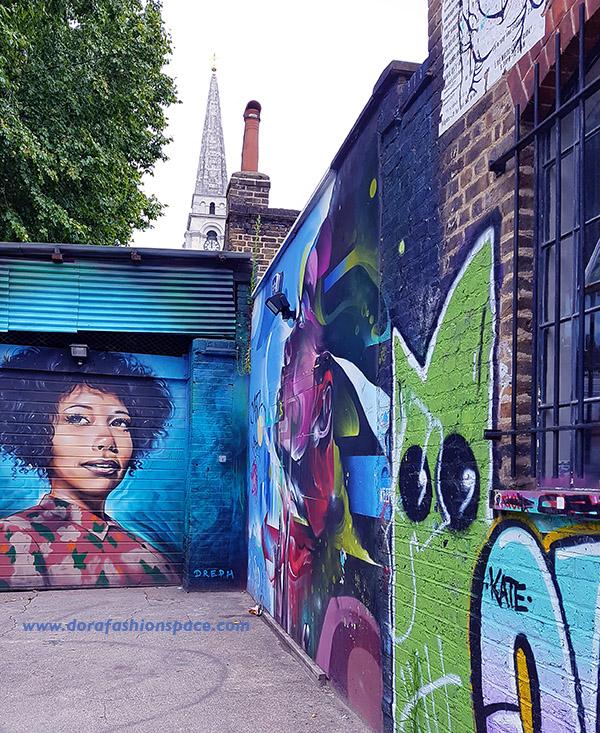 Dreph street art Staryard Brick Lane