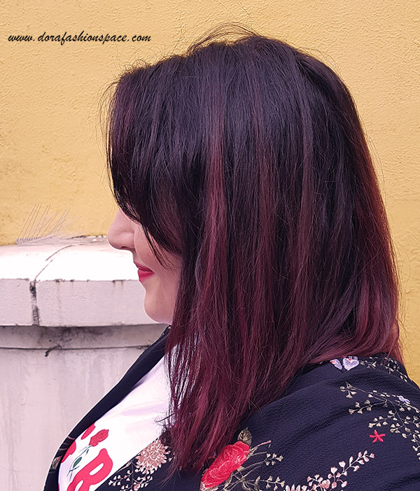 colorista washout burgundy on dark hair