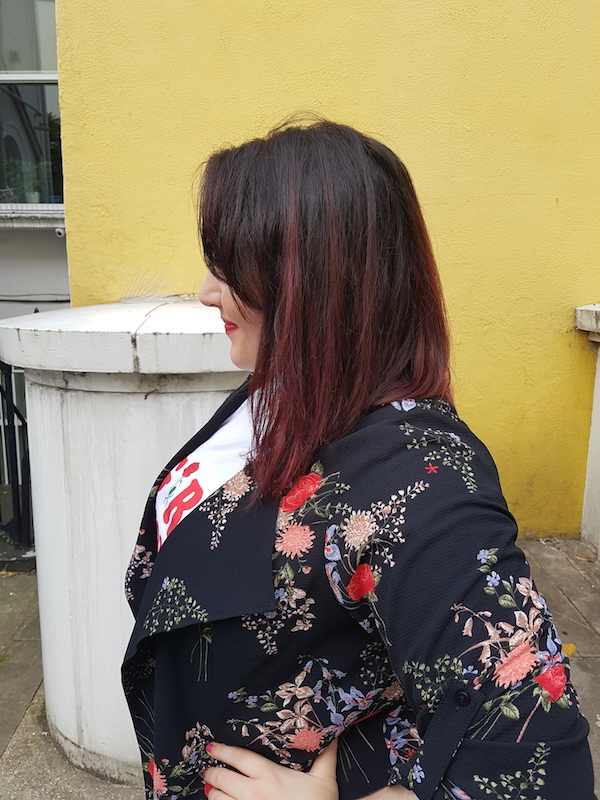floral duster jacket blogger outfit