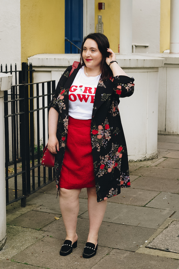 how to style a floral duster jacket