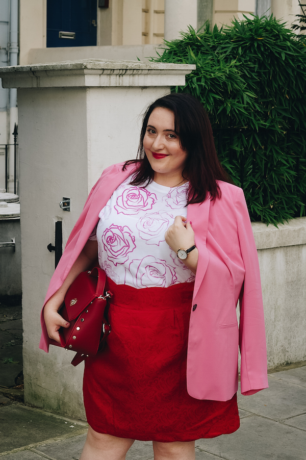 red pink street style