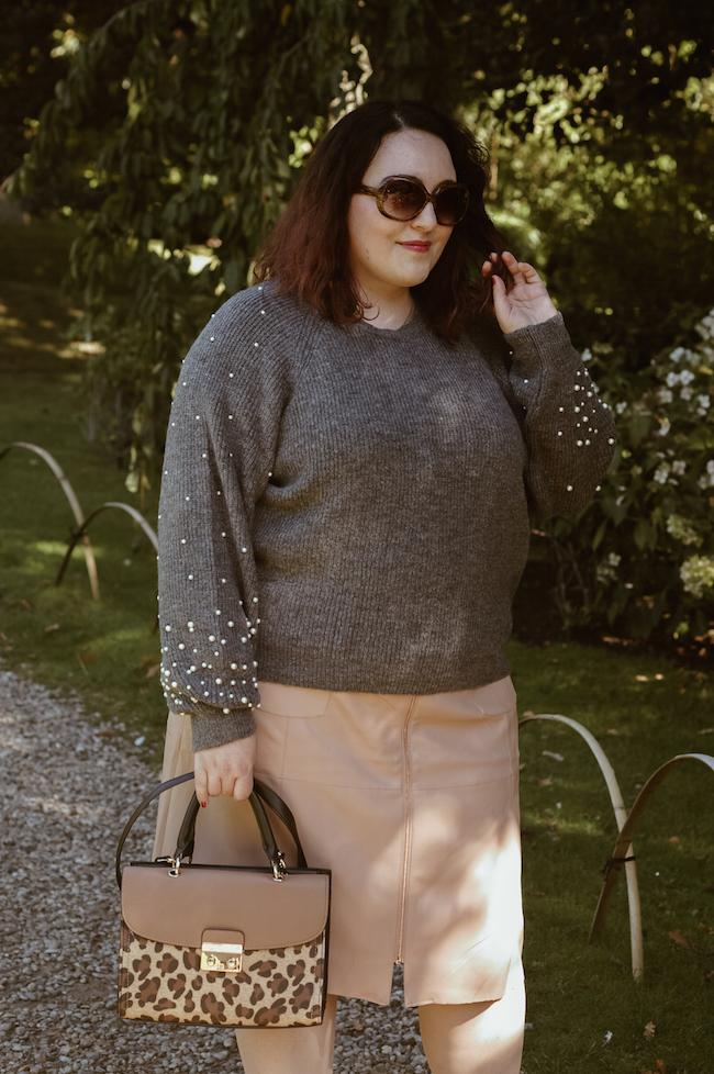 pearl embellished jumper