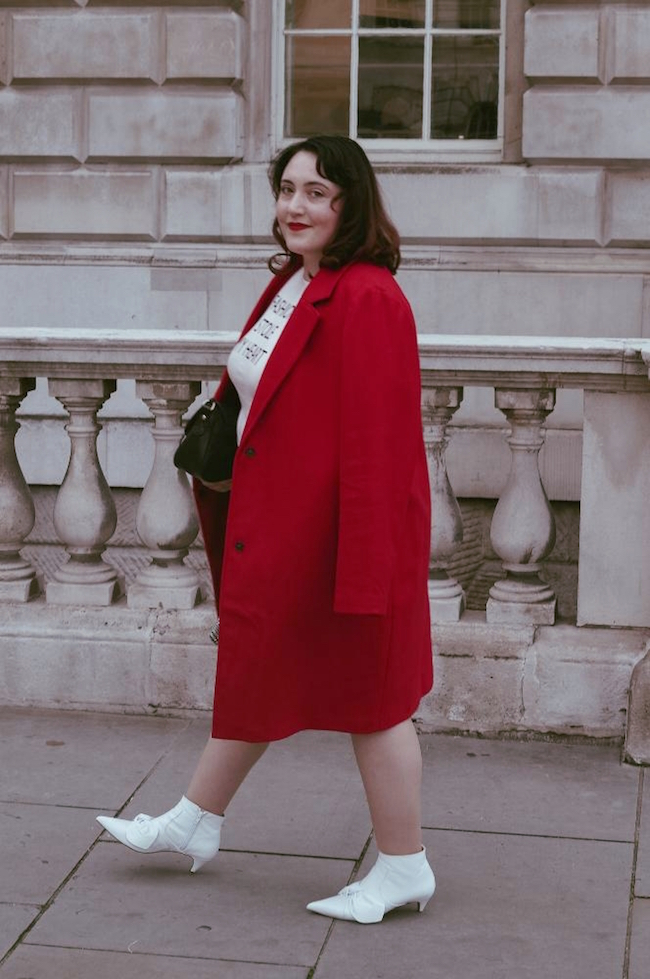 plus size blogger london outfit