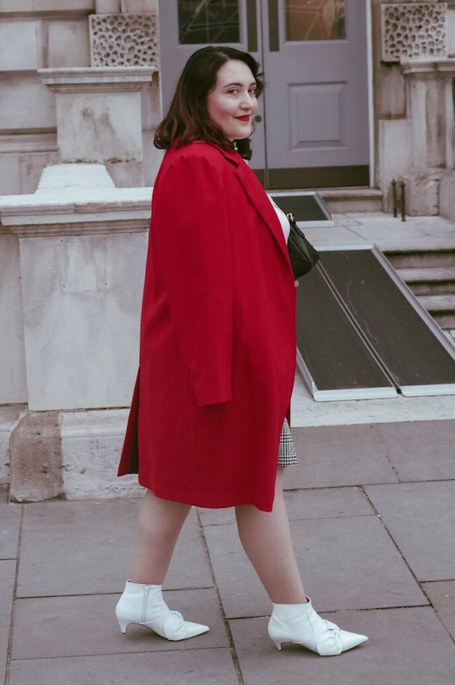 red coat outfit post
