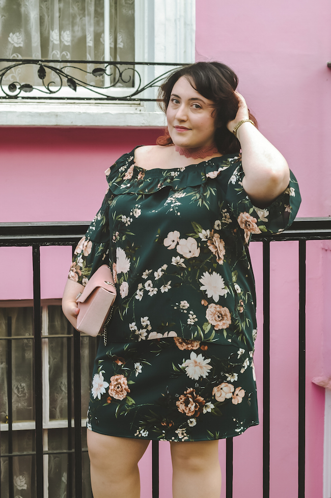 floral co-ords plus size blogger outfit
