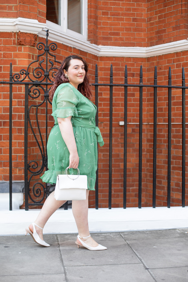 how to style green floral dress