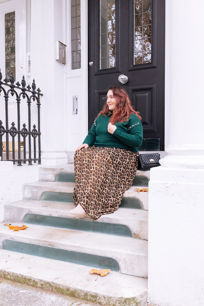 plus size blogger outfit london photos